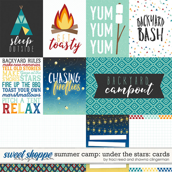 Summer Camp: Under The Stars Cards by Traci Reed and Shawna Clingerman