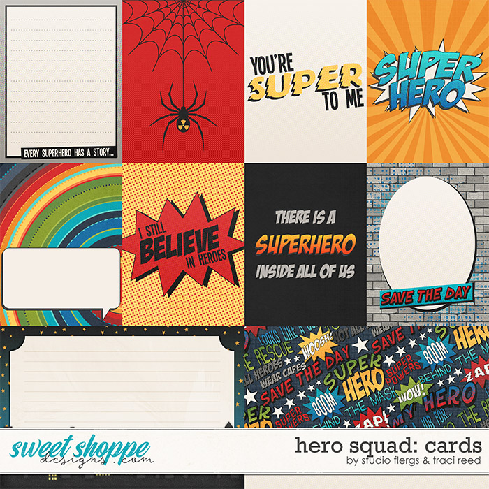 Hero Squad: CARDS by Studio Flergs & Traci Reed