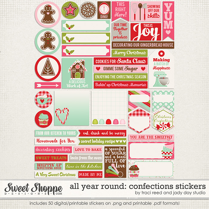 All Year Round: Confections Stickers by Jady Day Studio and Traci Reed