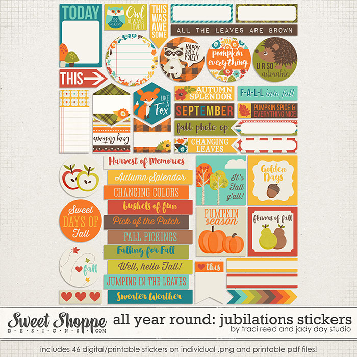 All Year Round: Jubilations Stickers by Traci Reed & Jady Day Studio