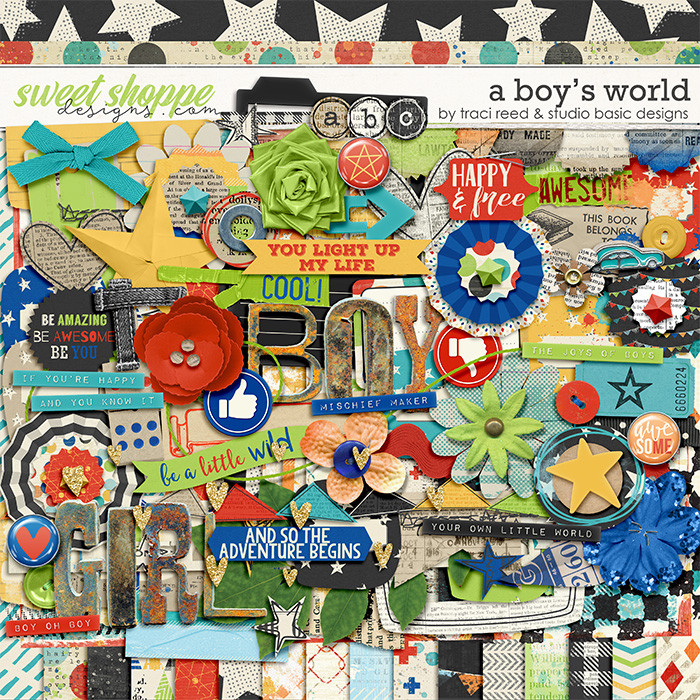 A Boy's World: Kit by Studio Basic and Traci Reed