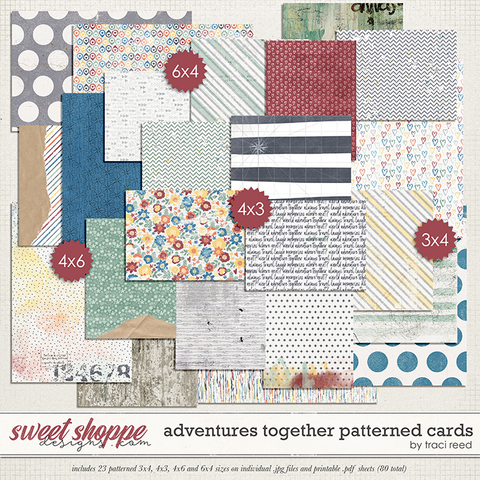 Adventures Together Patterned Cards by Studio Basic & Traci Reed
