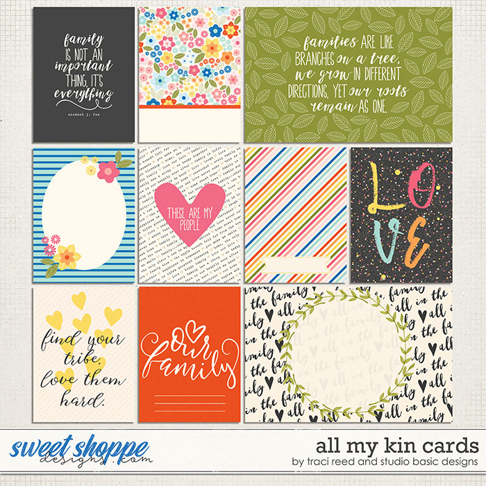 All My Kin Journal Cards by Studio Basic and Traci Reed