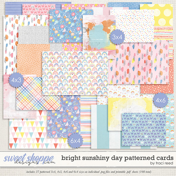 Bright Sunshiny Day Patterned Cards by Studio Basic and Traci Reed