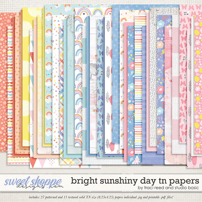 Bright Sunshiny Day TN Papers by Studio Basic and Traci Reed