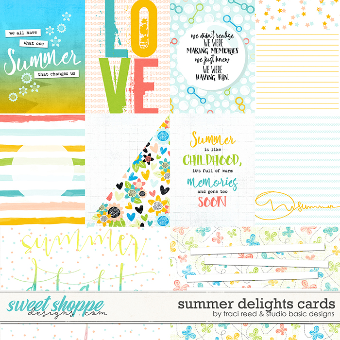 Summer Delights Cards by Traci Reed and Studio Basic Designs