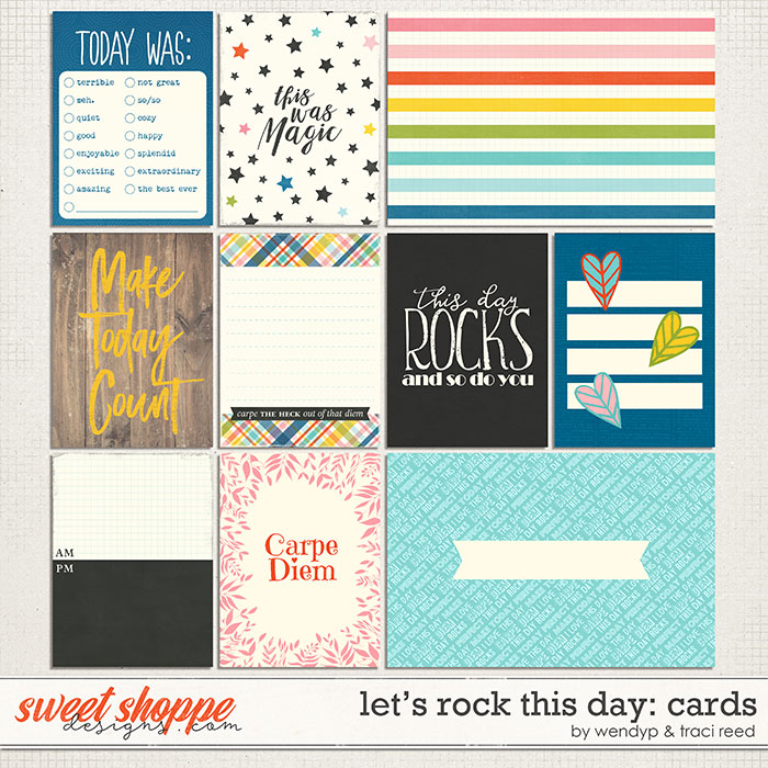 Let's rock this day Cards by Traci Reed & WendyP Designs