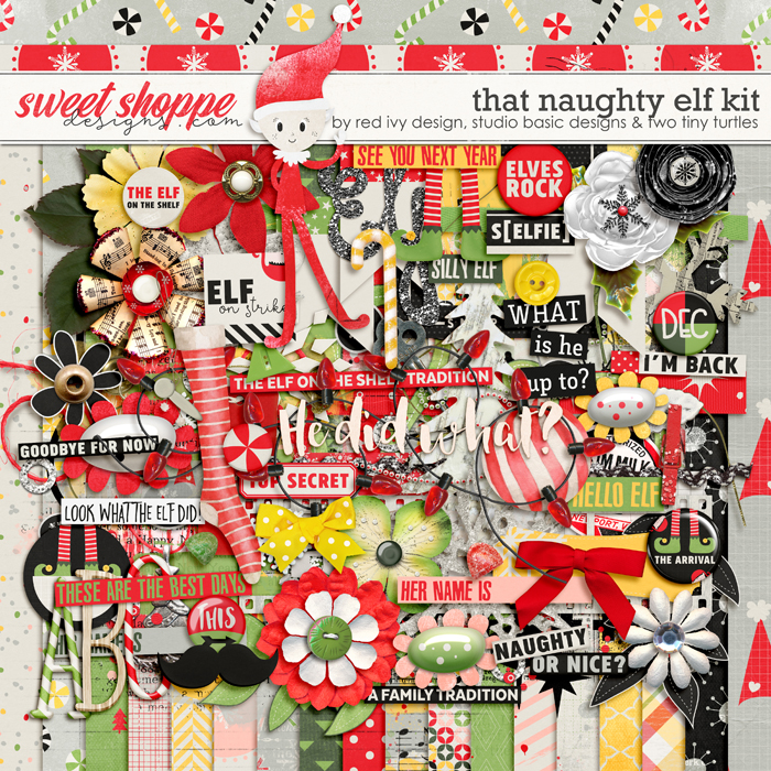 That Naughty Elf by Red Ivy Design, Studio Basic and Two Tiny Turtles