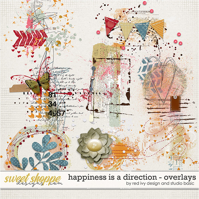 Happiness Is A Direction Overlays by Red Ivy and Studio Basic
