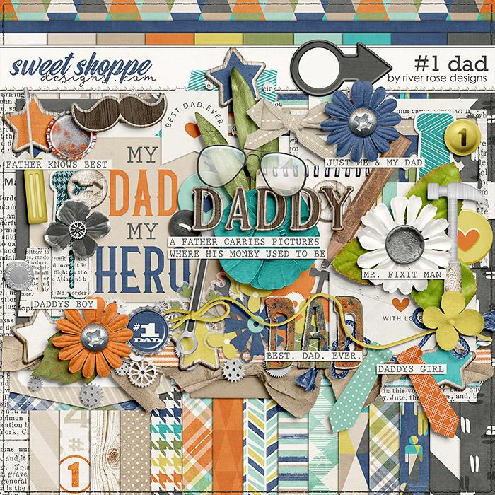 #1 Dad: Kit by River Rose Designs