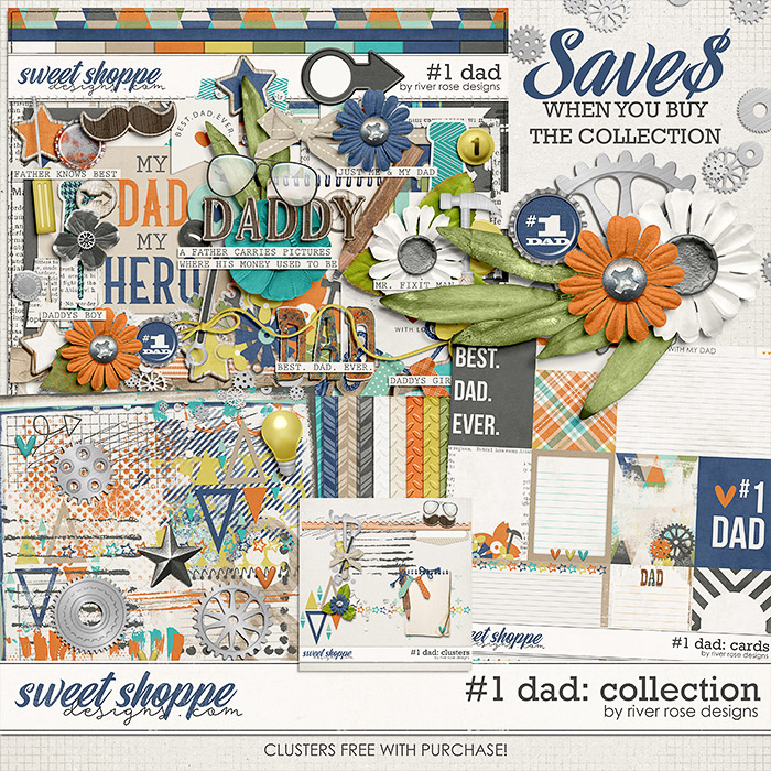 #1 Dad: Collection + FWP by River Rose Designs