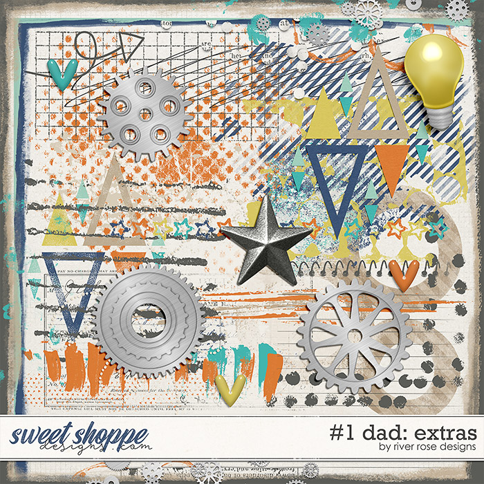 #1 Dad: Extras by River Rose Designs