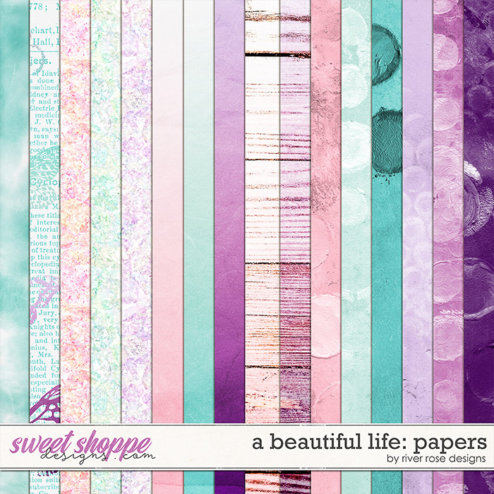 A Beautiful Life: Papers by River Rose Designs