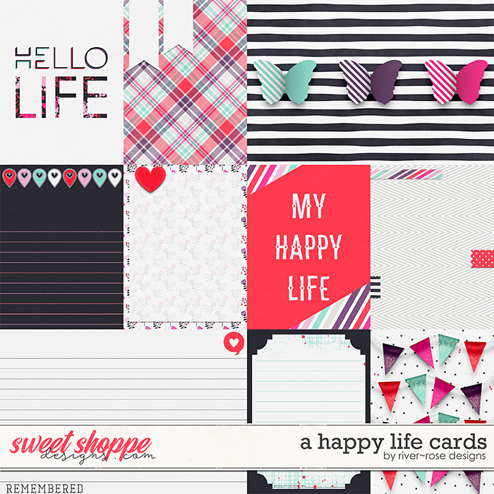 A Happy Life Cards by River Rose Designs