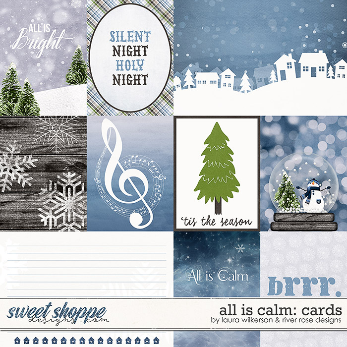 All is Calm: Cards by Laura Wilkerson & River Rose Designs