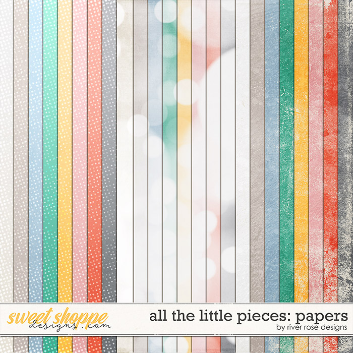 All the Little Pieces: Papers by River Rose Designs