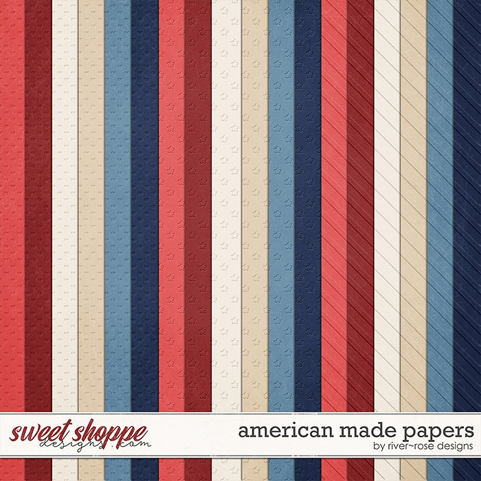 American Made Embossed Papers by River Rose Designs