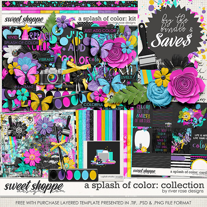 A Splash of Color: Collection by River Rose Designs
