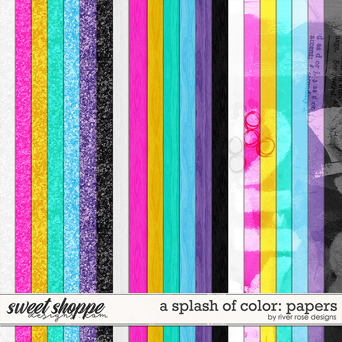 A Splash of Color: Papers by River Rose Designs