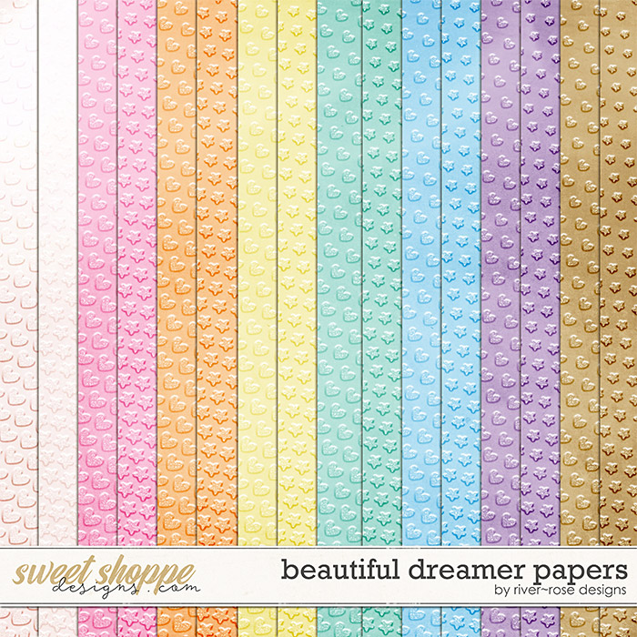 Beautiful Dreamer Papers by River Rose Designs