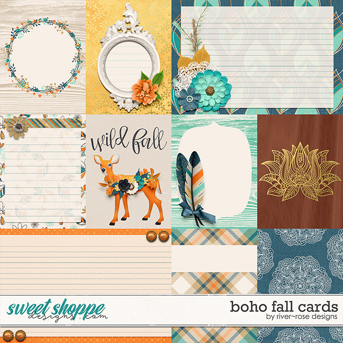 Boho Fall Cards by River Rose Designs