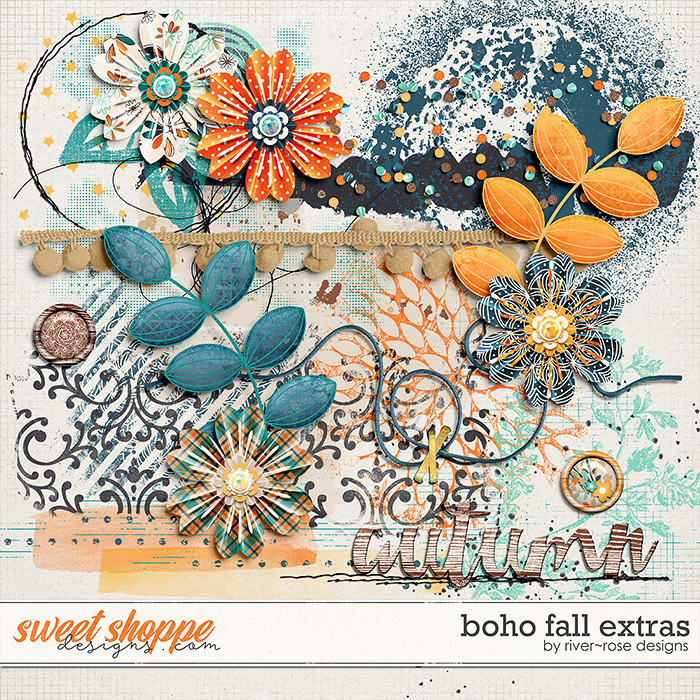 Boho Fall Elements by River Rose Designs