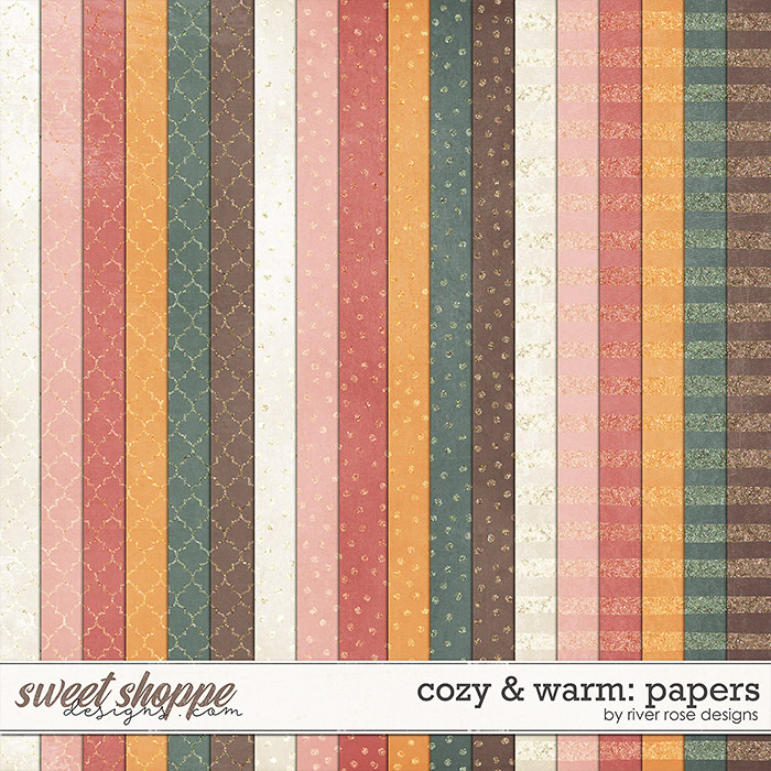 Cozy & Warm: Paper by River Rose Designs