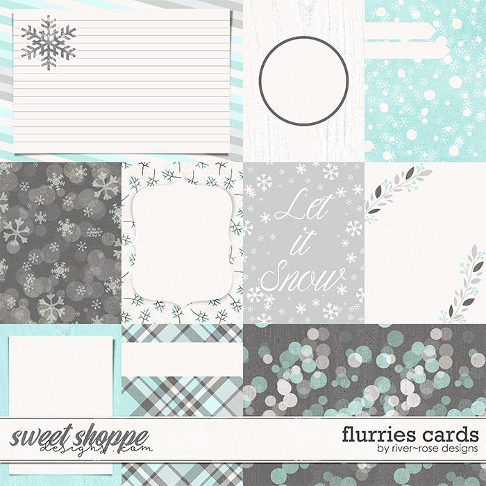 Flurries Cards by River Rose Designs