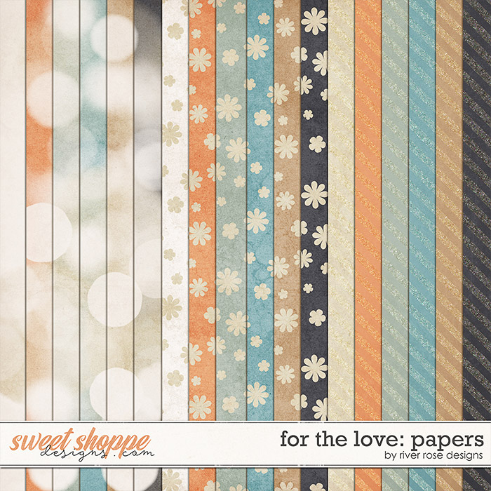 For the Love: Papers by River Rose Designs