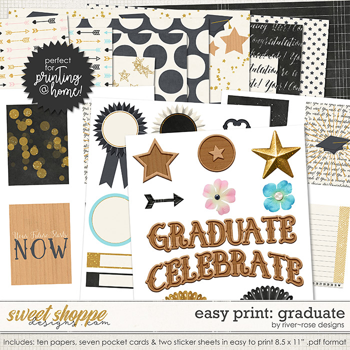 Easy Print: Graduate by River Rose Designs