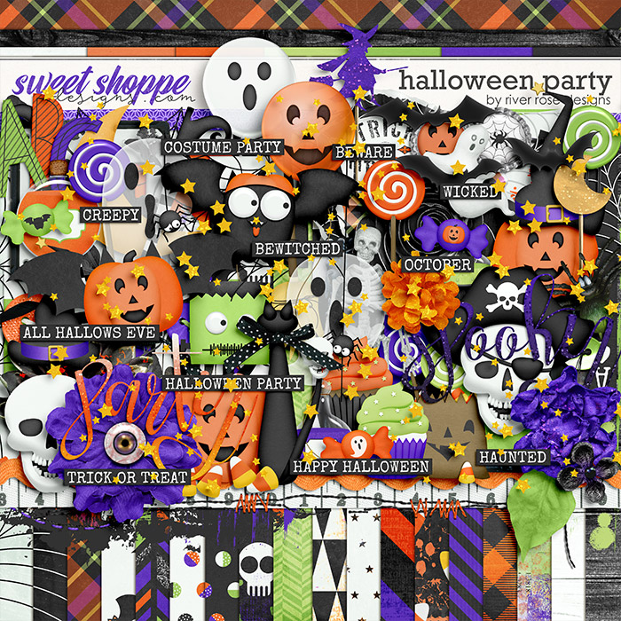 Halloween Party: Kit by River Rose Designs