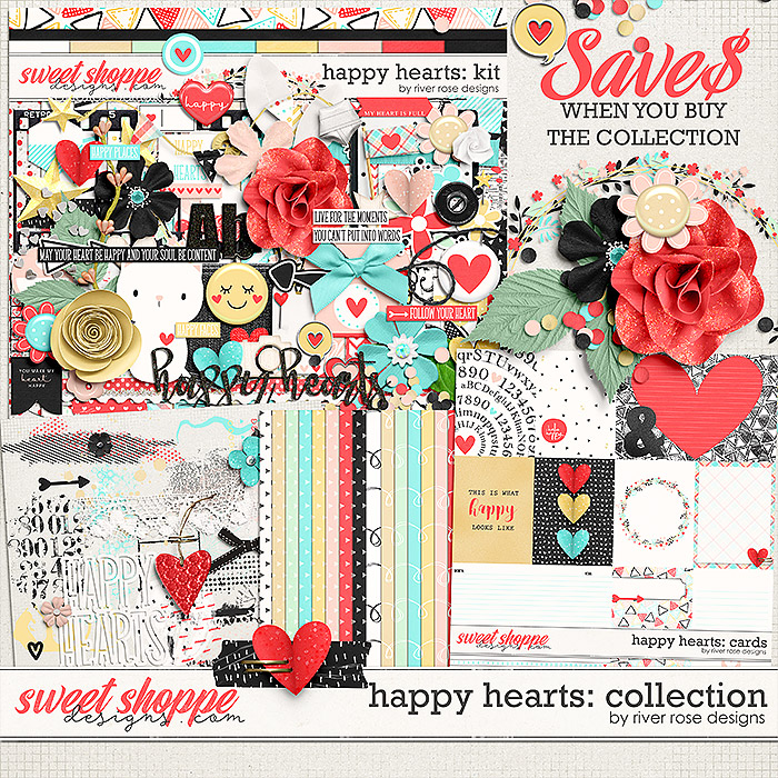 Happy Hearts: Collection by River Rose Designs