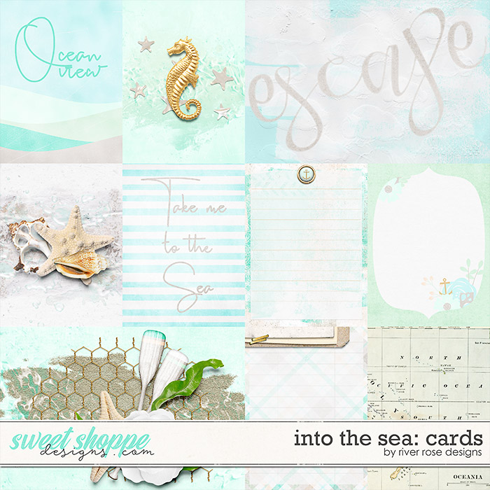 Into the Sea: Cards by River Rose Designs