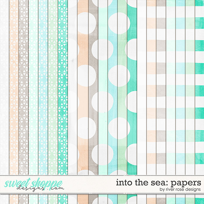 Into the Sea: Papers by River Rose Designs