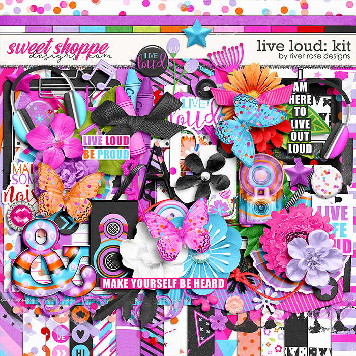 Live Loud: Kit by River Rose Designs
