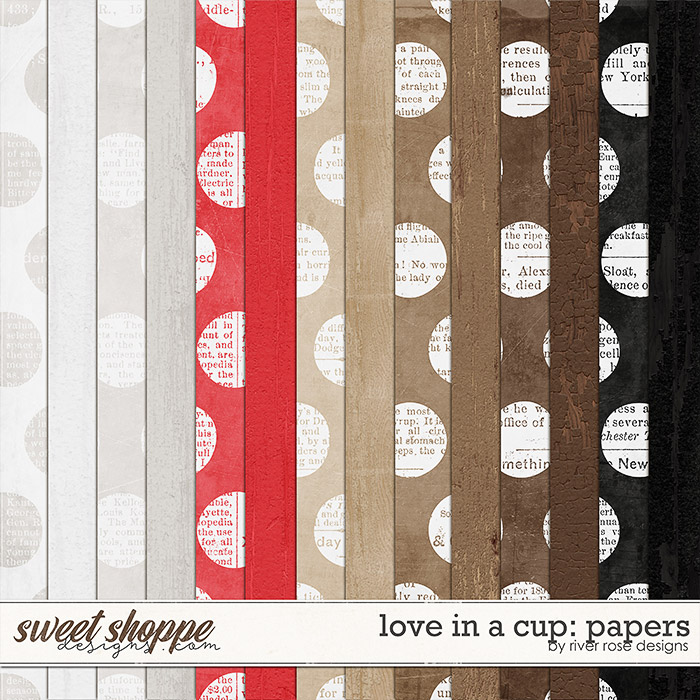 Love in a Cup: Papers by River Rose Designs