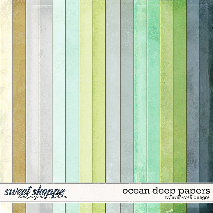 Ocean Deep Papers by River Rose Designs