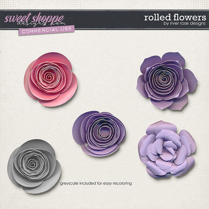 CU Rolled Flowers by River Rose Designs