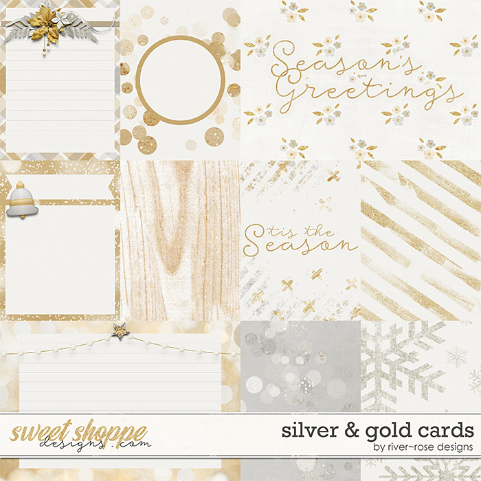 Silver & Gold Cards by River Rose Designs