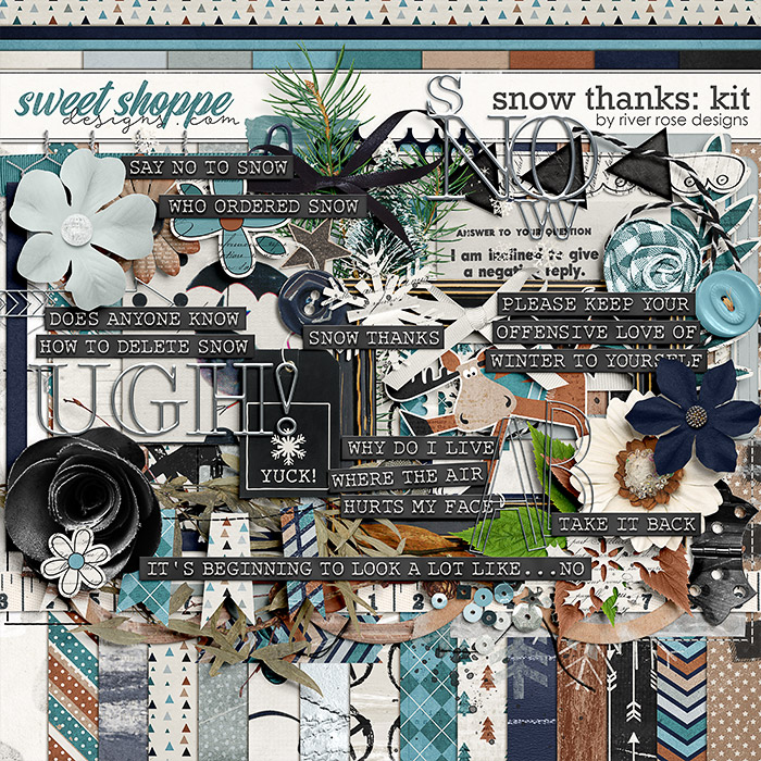 Snow Thanks: Kit by River Rose Designs