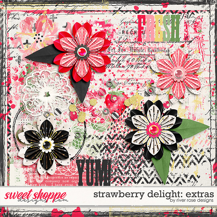 Strawberry Delight: Extras by River Rose Designs