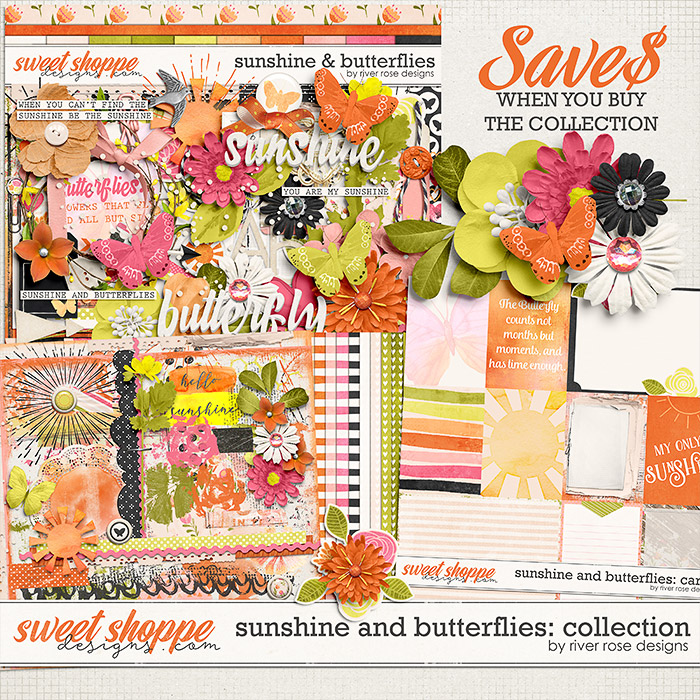 Sunshine & Butterflies: Collection by River Rose Designs
