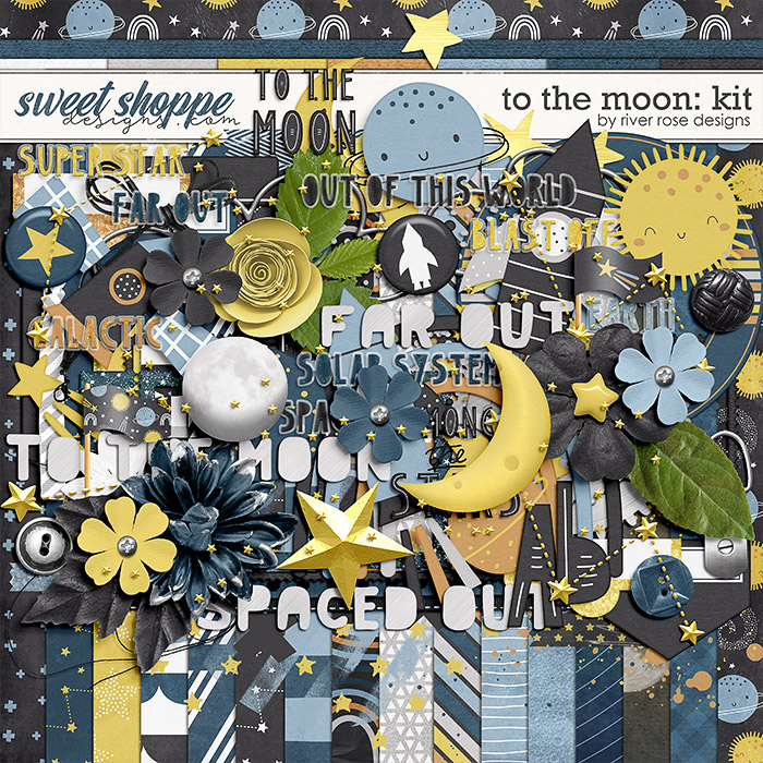 To the Moon: Kit by River Rose Designs