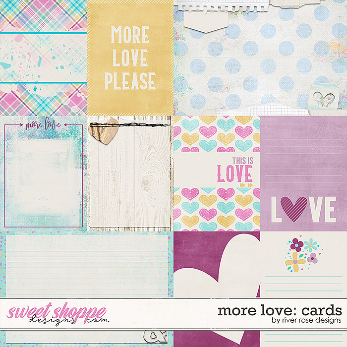 More Love: Journal Cards by River Rose Designs
