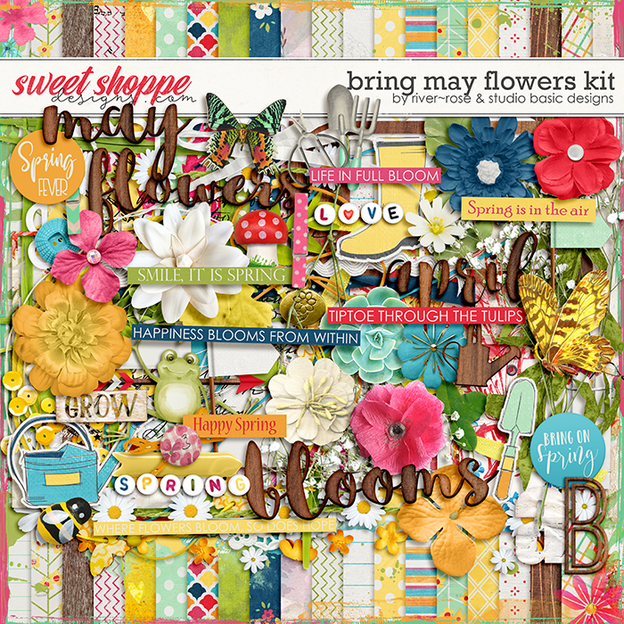Bring May Flowers Kit by River Rose Designs & Studio Basic Designs