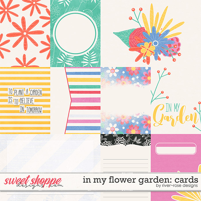 In My Flower Garden Cards by River Rose Designs