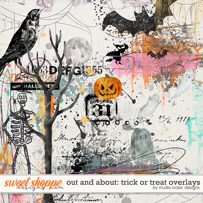 Out and About: Trick or Treat Overlays by Studio Basic Designs