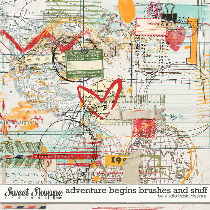 Adventure Begins: Brushes And Stuff by Studio Basic