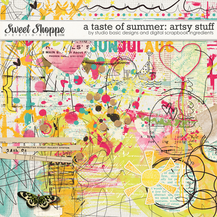 A Taste Of Summer Artsy Stuff by Studio Basic and Digital Scrapbook Ingredients