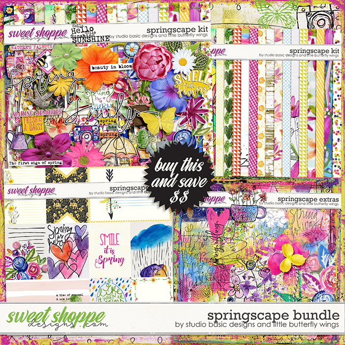 Springscape Bundle by Studio Basic and Little Butterfly Wings